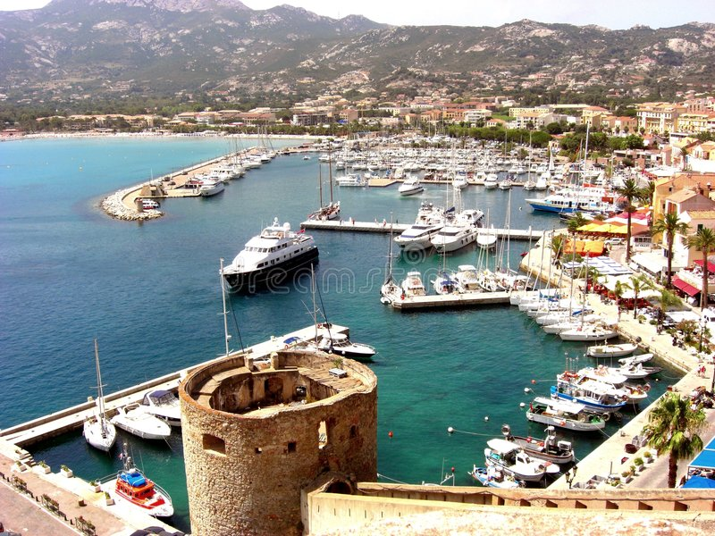 Download Harbour of Calvi stock image. Image of corse, harbour - 7590675