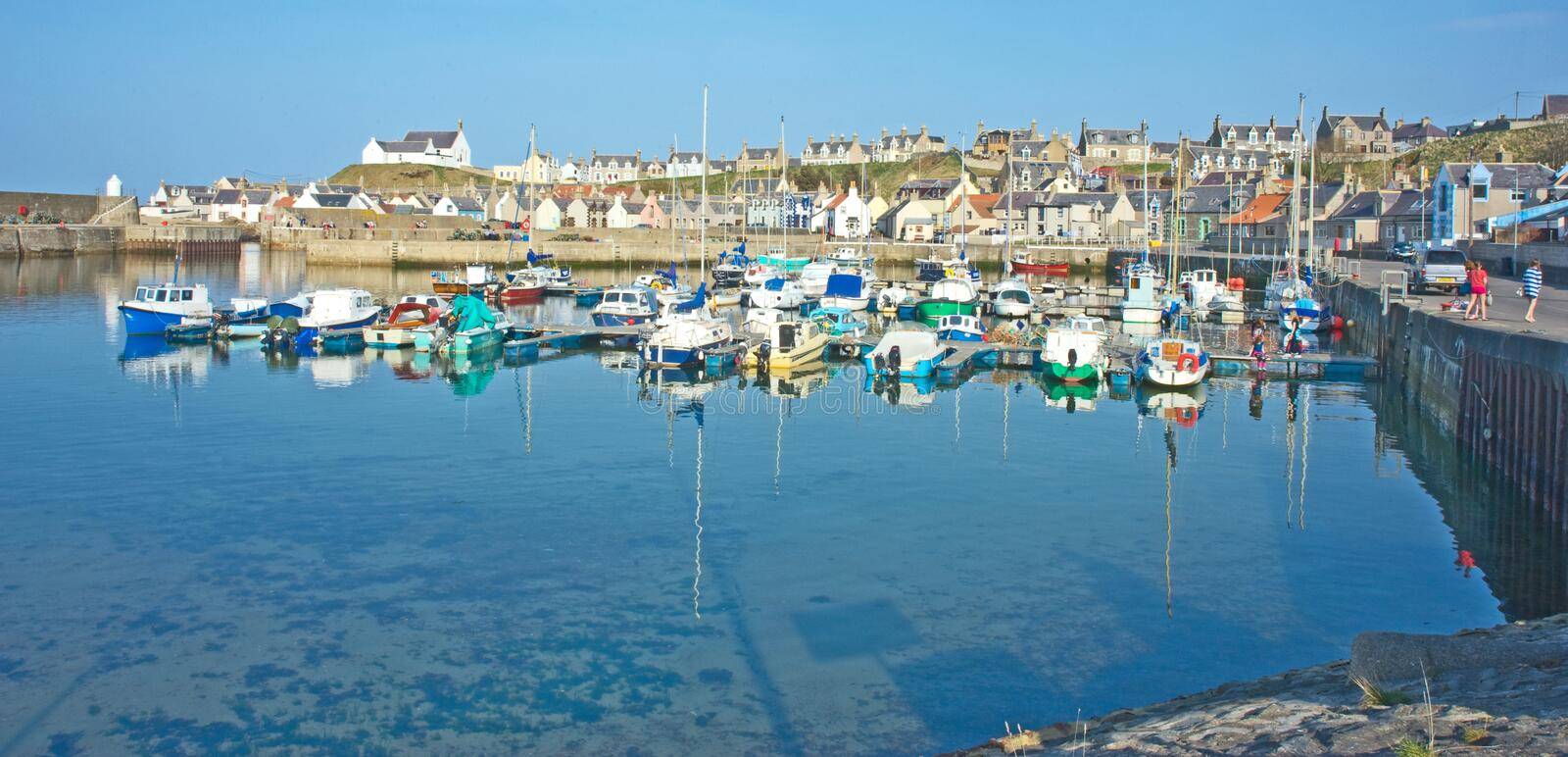 Download The harbour at Findochty editorial stock photo. Image of harbor - 24026468