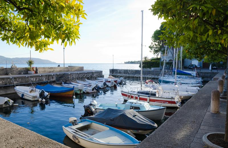 Harbour at Gargnano stock image