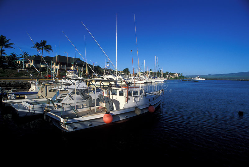 Harbour at Hawaii stock images
