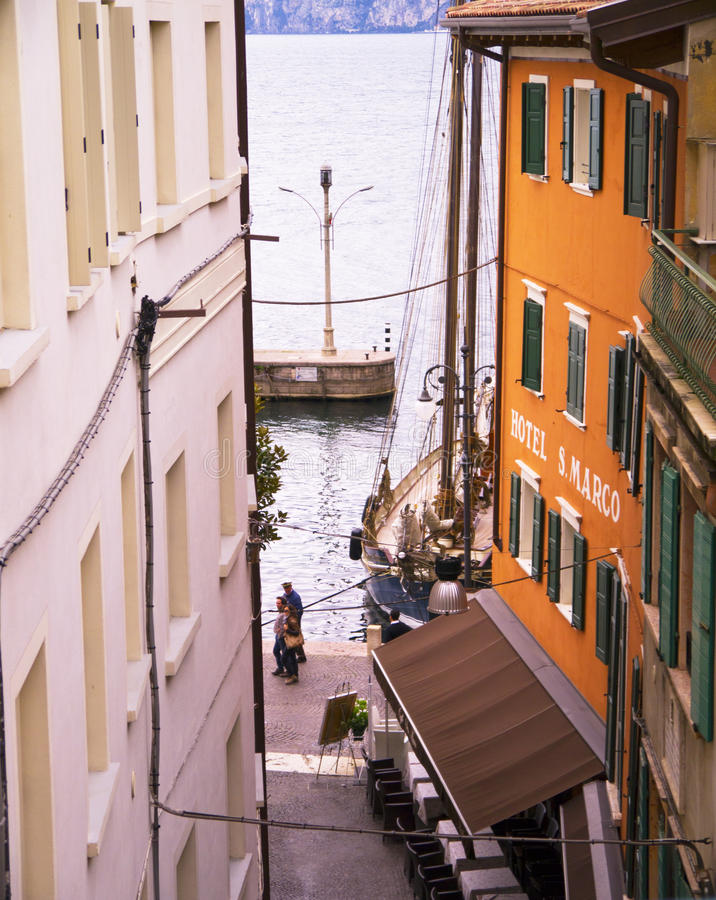 Harbour at Malcesine on Lake Garda in Northern Italy