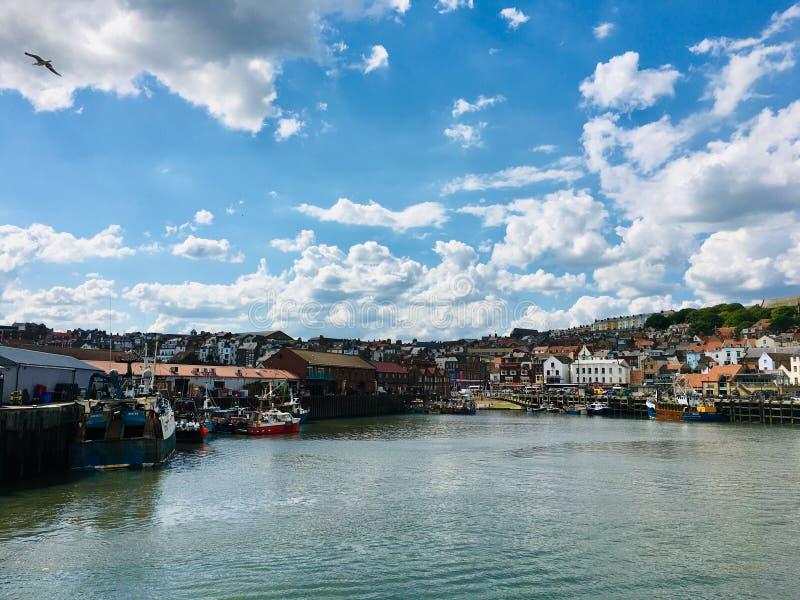 Scarborough, North Yorkshire, United Kingdom. The harbour and sea at Scarborough, North Yorkshire, United Kingdom royalty free stock image