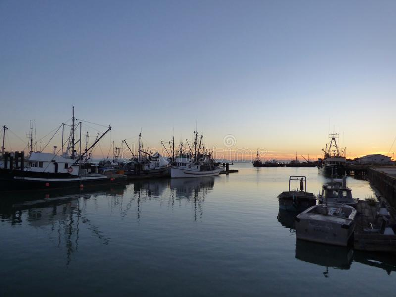Harbour at Sunset royalty free stock image