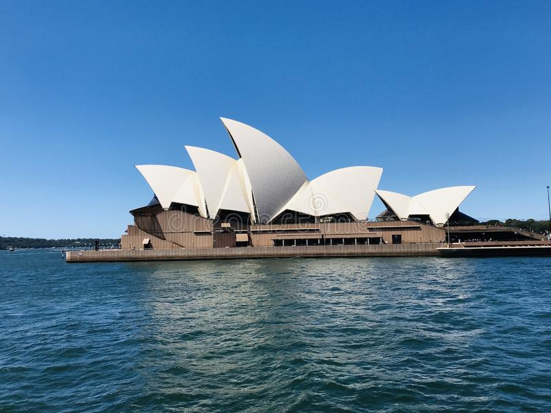 Harbour Sydney opera royalty free stock image