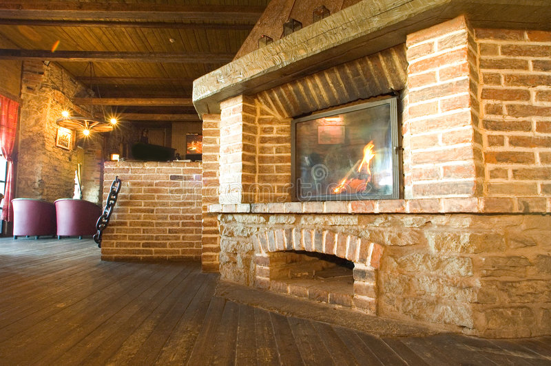 Harbour Tavern Fireplace Royalty Free Stock Photos