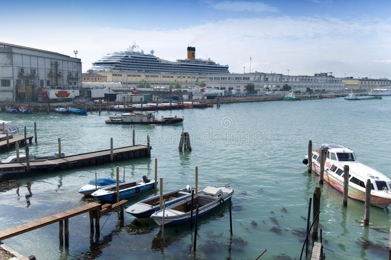 Download Harbour Tronchetto - Venice Editorial Photo - Image: 24655371