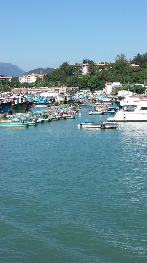HARBOUR VIEW DE LA ISLA DE LAMMA, HONG KONG fotografía de archivo