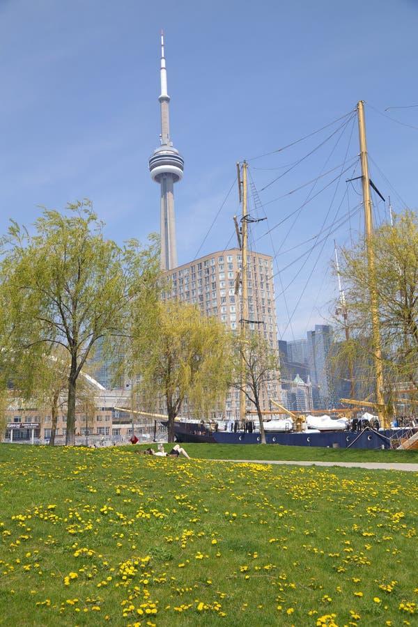 Harbourfront社区在街市的多伦多 库存照片