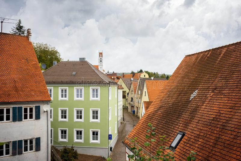 Harburg, a charming village on the Romantic Road. Bavaria, Germany. stock photography