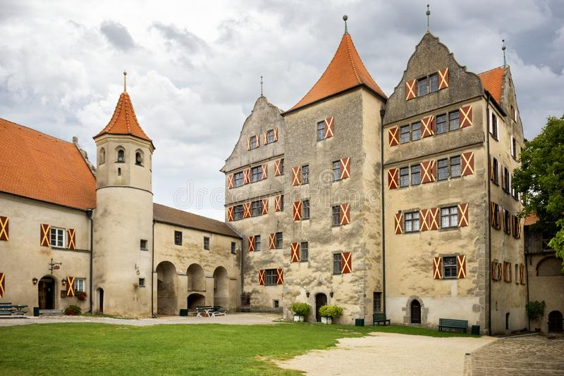 Harburg - Part of the interior of the Harburg Castle in Bavaria, It is a part of the scenic route called `Romantic Road`. Germany stock images
