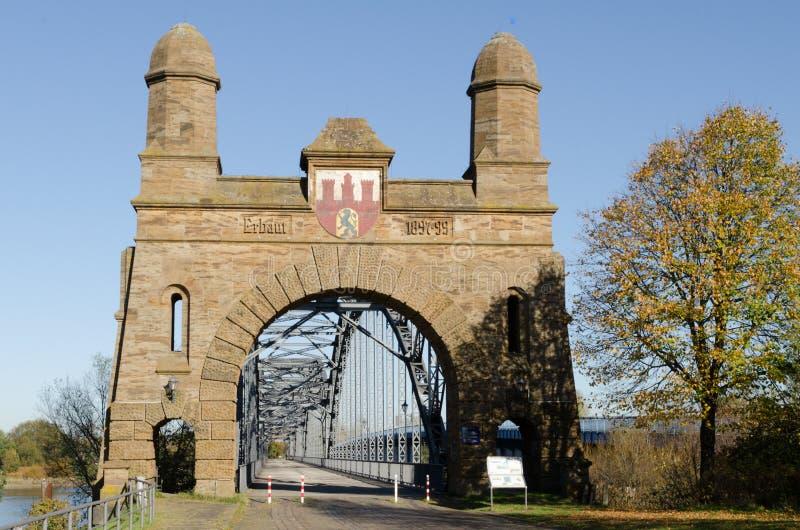 Harburg velho da ponte imagem de stock royalty free