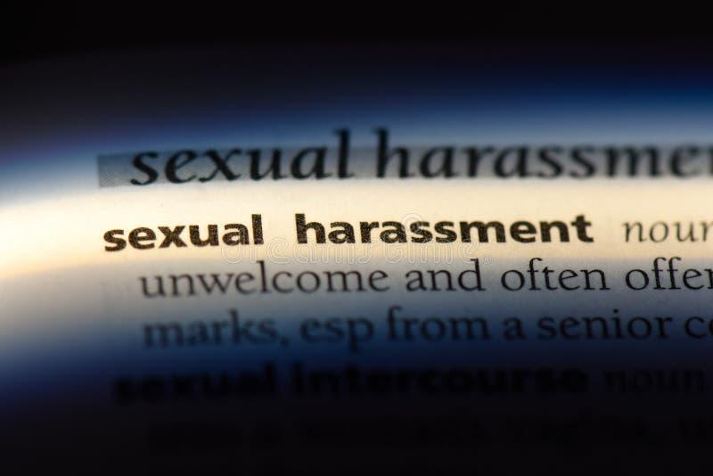Harcèlement sexuel photo libre de droits