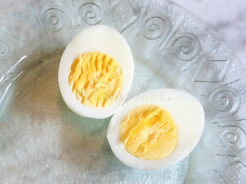 Hard Boiled Egg. Perfect Hard boiled egg on plate royalty free stock images