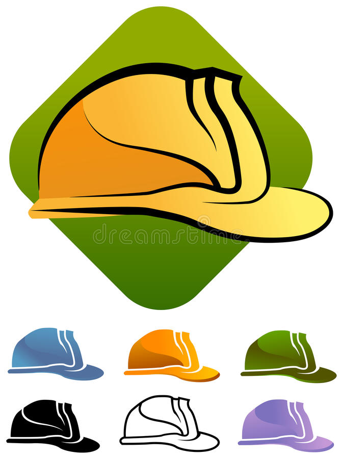 Hard construction hat stock illustration