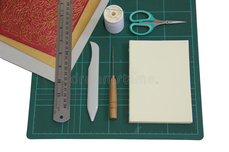 Hard cover book binding materials royalty free stock photography