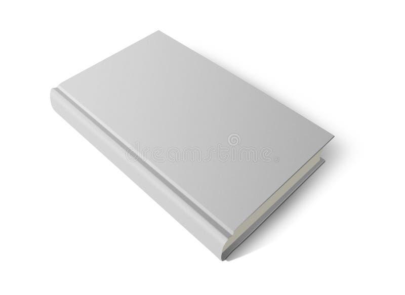 Hard dekkings wit boek stock illustratie
