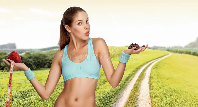 Download Hard desicion. stock photo. Image of healthy, exercise - 18037136