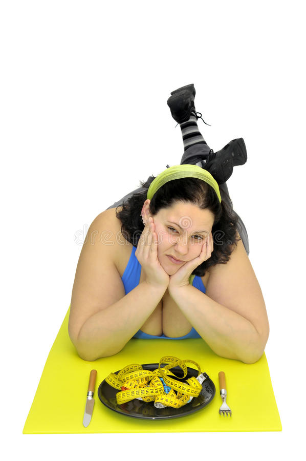 Hard diet stock image