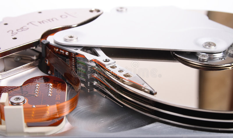Hard disc. How it look inside of hard disc royalty free stock images