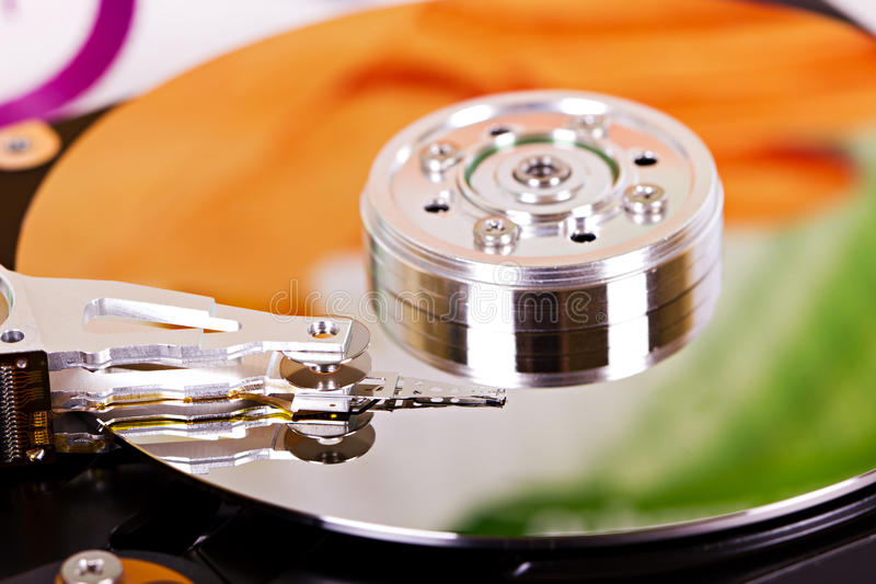 Download Hard disc closeup stock photo. Image of memory, reading - 34594266