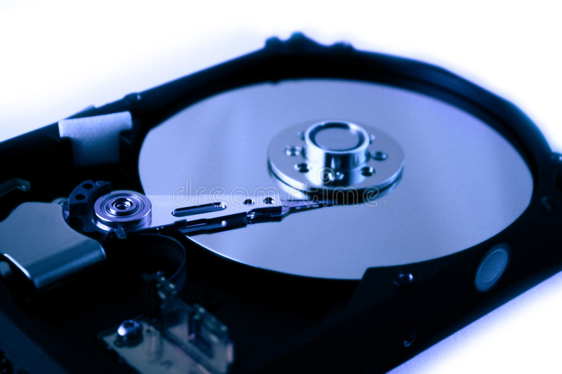 Hard disk. Computer drive to information royalty free stock images