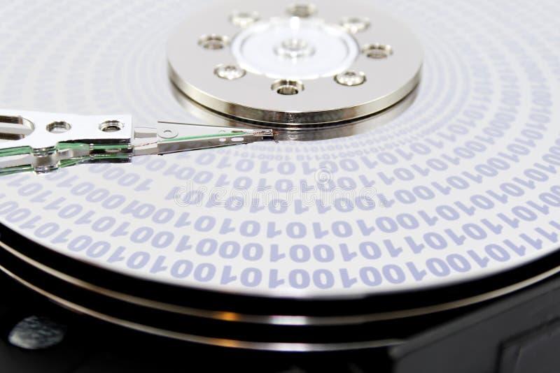 Hard disk binary. Binary data on a hard disk
