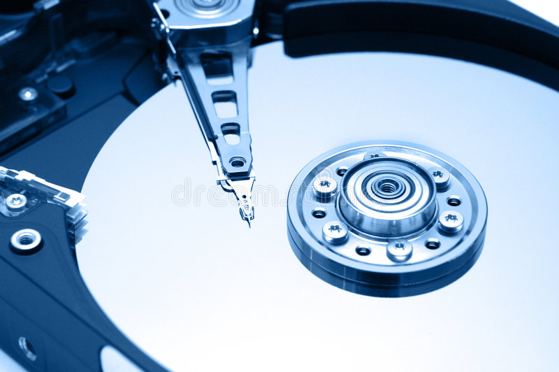 Download Hard Disk Closeup 1 stock image. Image of flow, drive, head - 322547