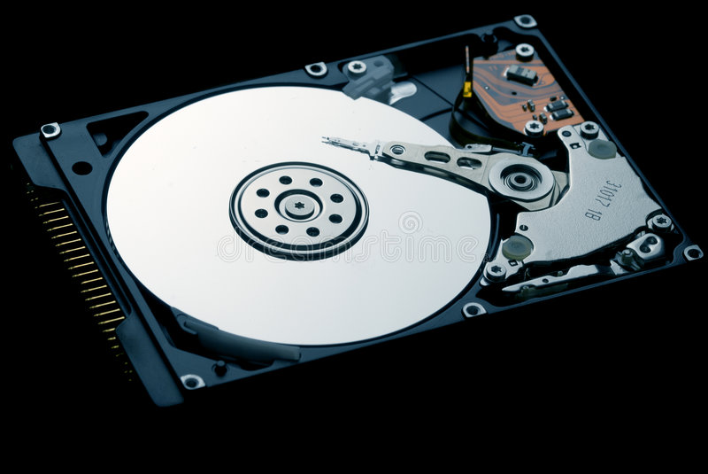 Hard Disk Drive. Internals and design light royalty free stock image