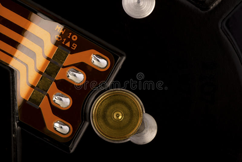 Hard disk drive elements - close-up stock images