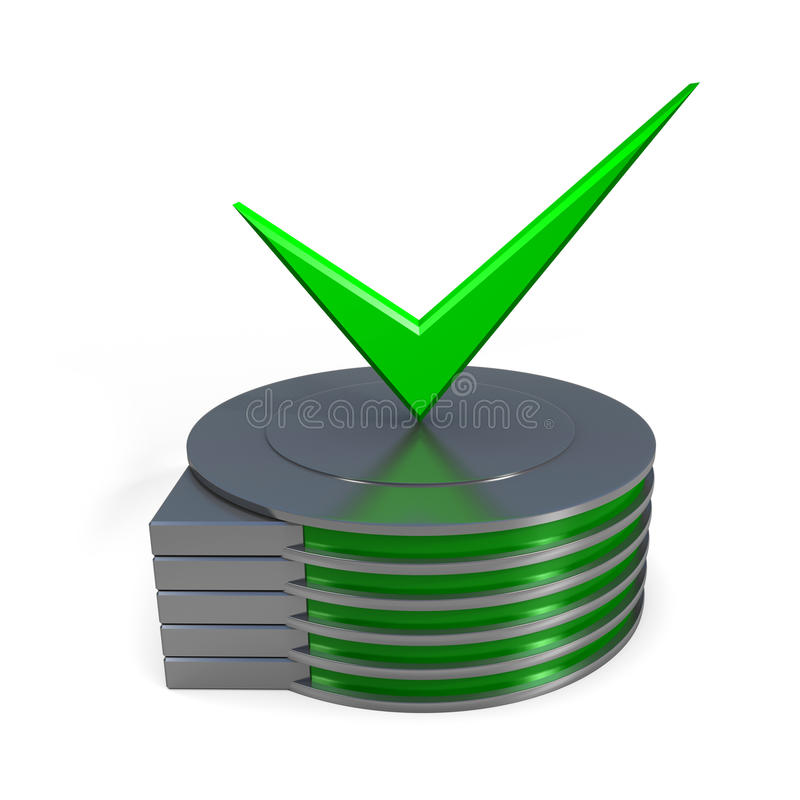Hard disk drive icon. 3d illustration royalty free stock image