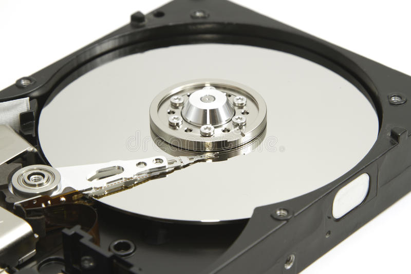 Hard disk drive inside for data recovery royalty free stock photo