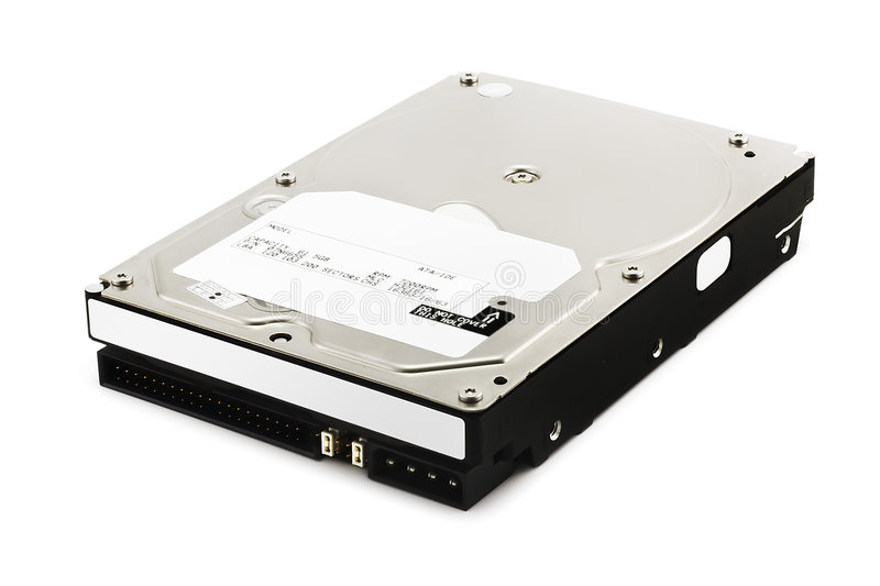 Hard Disk Drive on White royalty free stock photo
