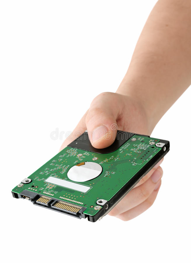 Hard Disk In Hand Royalty Free Stock Images