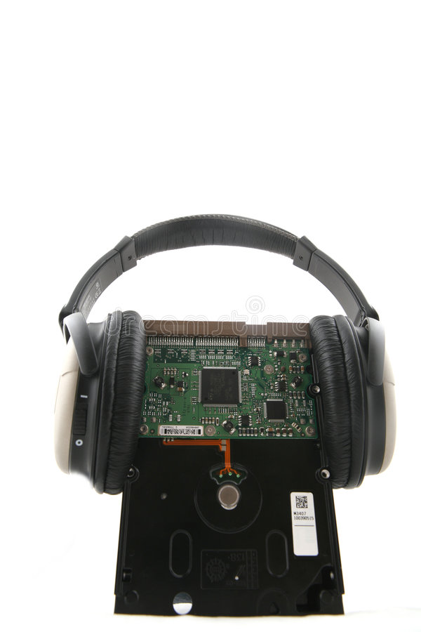Download Hard Disk with Headphone stock photo. Image of headphone - 6013480