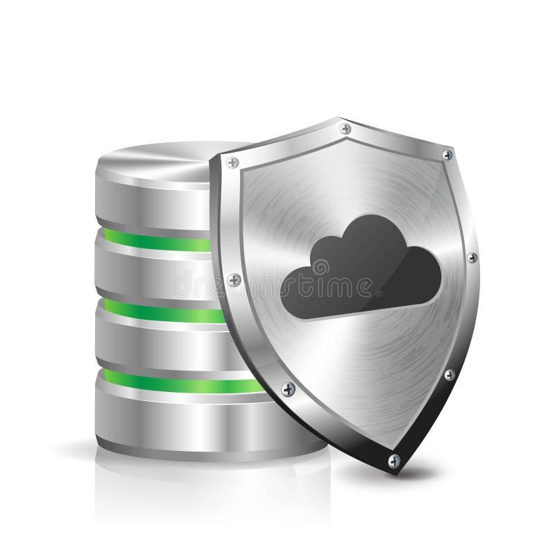 Download Hard disk and metal shield stock illustration. Image of hosting - 32373185