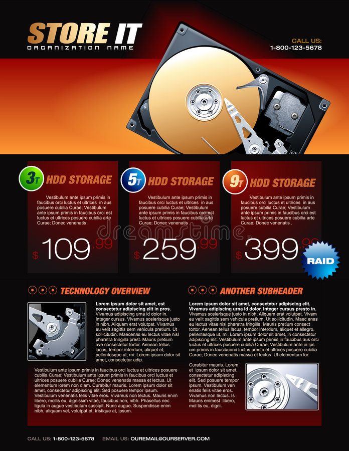 Free Hard Disk Promotional Brochure Royalty Free Stock Photography - 7900477