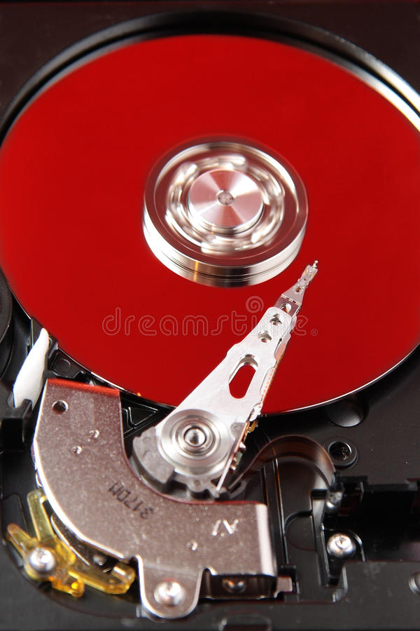 Hard Disk And Red Plate Royalty Free Stock Photos