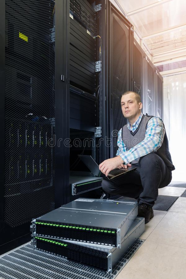 Hard disks drive in the storage system royalty free stock photo
