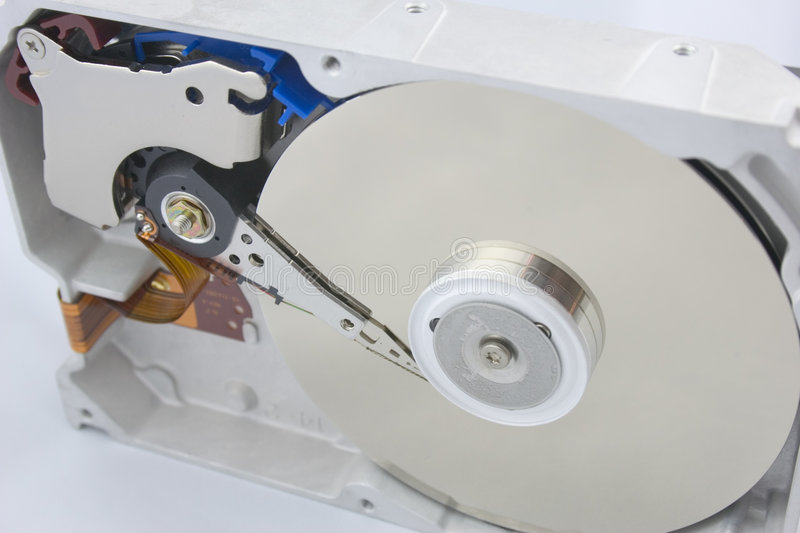 Hard Drive. Inside a 20GB hard drive stock images