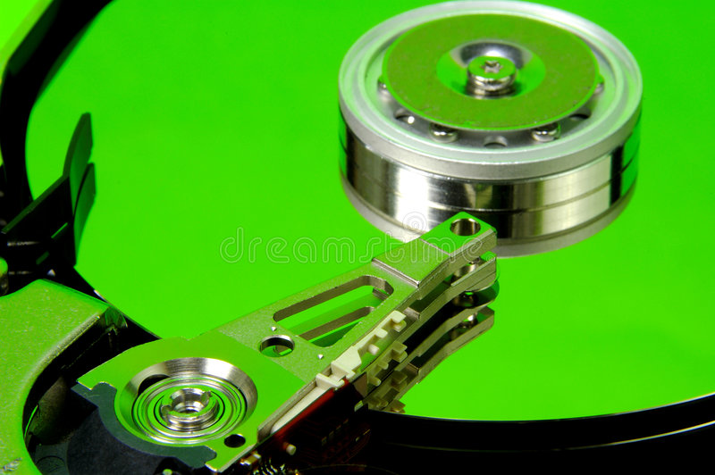 Hard Drive 9. Hard Drive With Green Tones. See Portfolio For Similar Concepts royalty free stock photo