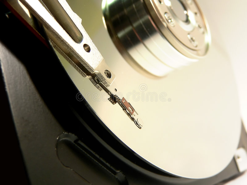 Hard drive details stock images