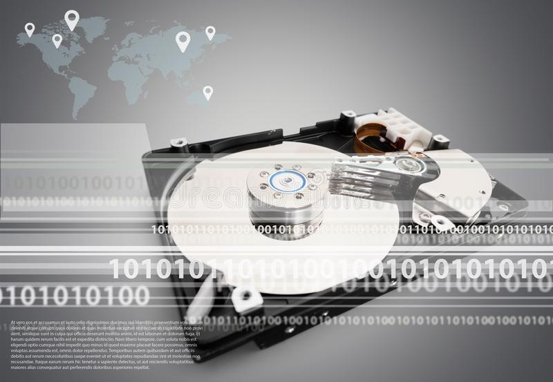 Hard drive royalty free illustration