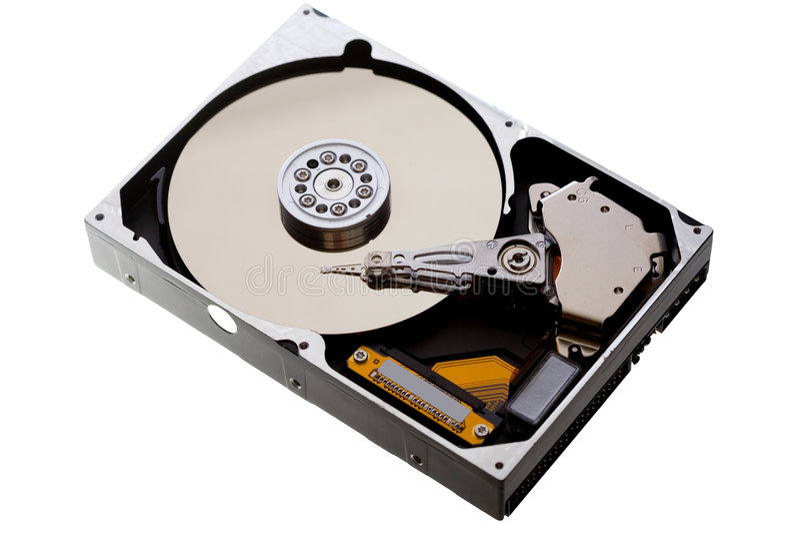 Hard drive isolated stock photo