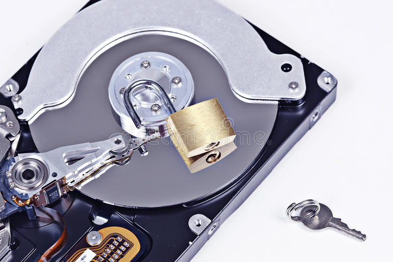 Hard drive security royalty free stock photography