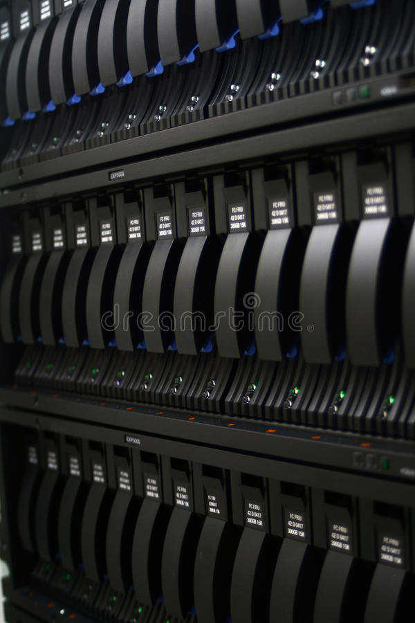 Hard drives. Three lines of hard drives in a row royalty free stock images