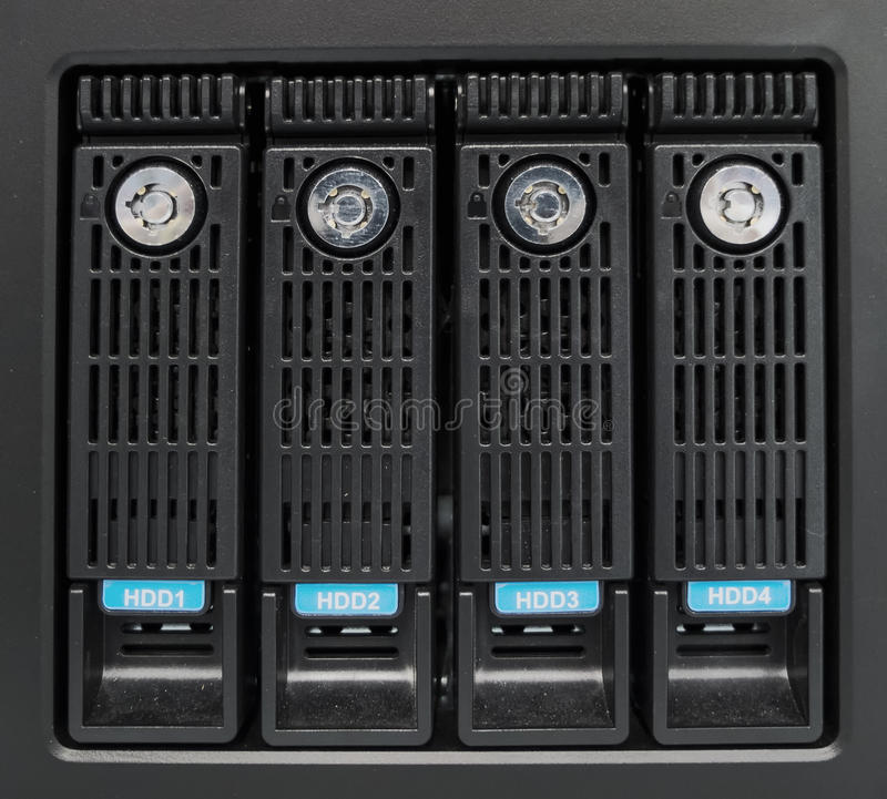 The hard drives. In data center of the organization royalty free stock photos