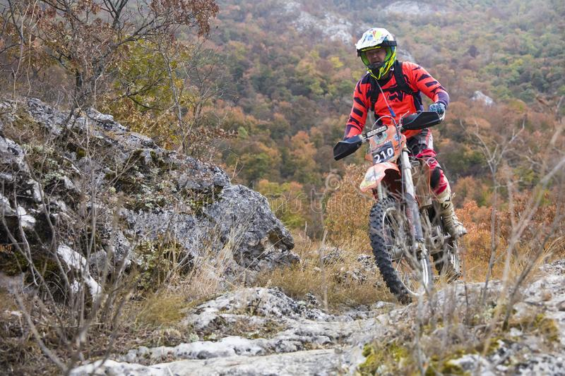 Hard Enduro Race stock photo