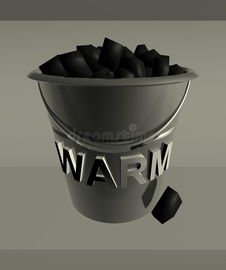 Download Hard energy stock illustration. Image of pail, scuttle - 3718390