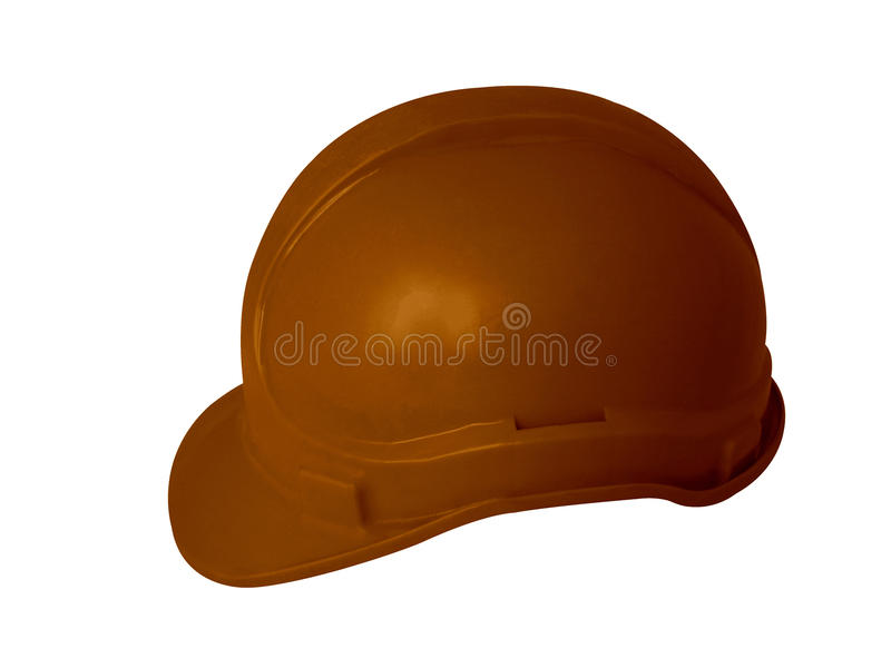 Hard hat. For industrial workers and builders royalty free stock photo