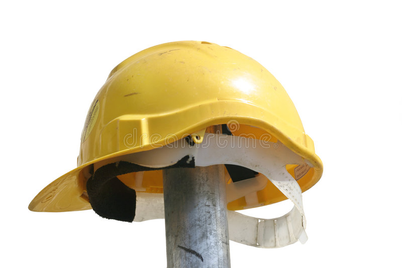 Hard Hat. Atop of a pole royalty free stock photography